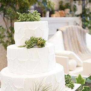 ケーキの仕上げは新郎新婦&ゲストで
