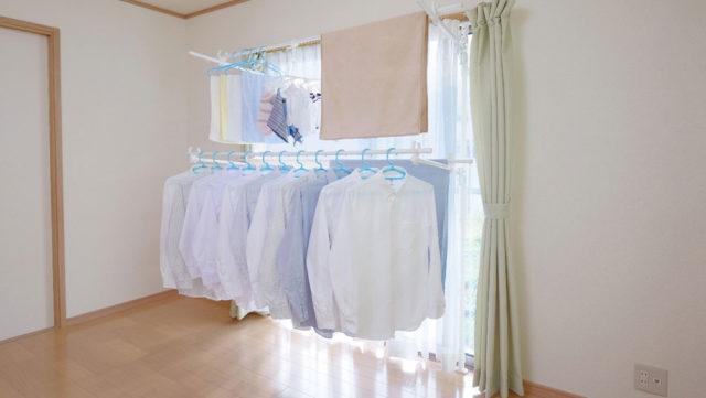 部屋干しの洗濯物が乾かないのはなぜ?効率的な乾燥と臭いを消す方法